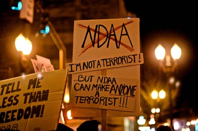 For a false flag war on terror perpetrated by corporate terrorists, we have lost our Writ of Habeus Corpus. With the Supreme Court's approval of the NDAA of 2012, the military can now arrest anyone, without charges, indefinitely. Under a just President that is at war with corporate powers and bankers that have committed treason, this could serve a purpose. Under a corrupt President serving them, it could destroy everything the Constitution stands for.