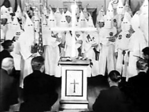 Klan meeting in- you guessed it- a southern Masonic lodge, circa 1964. This is one reason secrecy and deception are the hallmark of the lodge then and today
