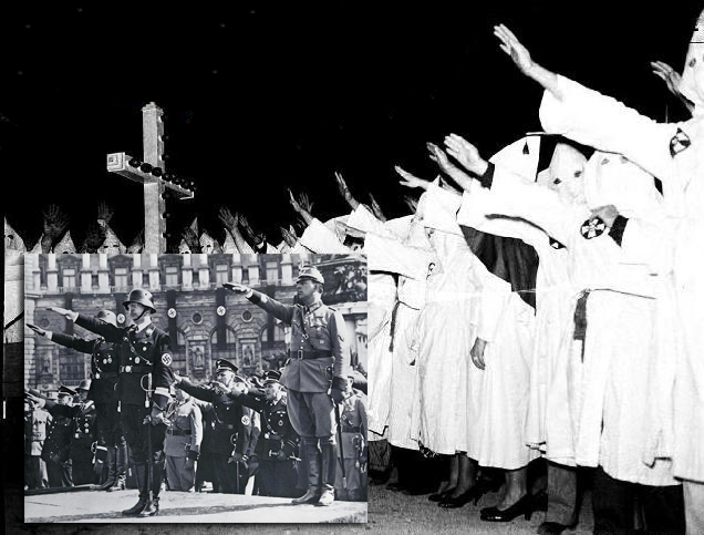 nazi germans and the ku klux Both the nazis and ku klux klan have had their differences the nazis were germans who were out to kill all the jews, while the kkk was against all african-americans .