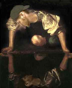 narcissus_caravaggio_yang