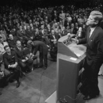 "President Kennedy Warns of ""monolithic and ruthless conspiracy"", Press Infiltration"