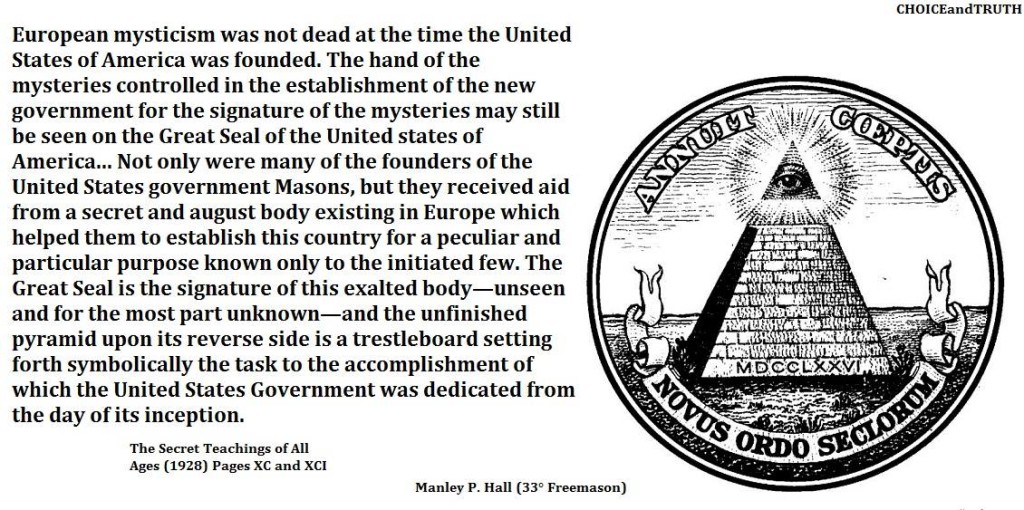 The exalted and unseen, unknown body mentioned by Hall is the same mentioned by President Washington: the Illuminati.