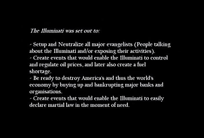 Illuminati defectors warned of what actually came to pass, many years before Bush Sr. and Bush Jr. launched the oil wars (to regulate oil prices) and a banking debacle, which did indeed bankrupt major banks, that took place as scheduled under Bush Jr.
