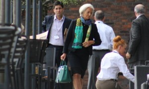 IMF Director Christine Lagarde arrives at 2014 Bilderberg Meeting