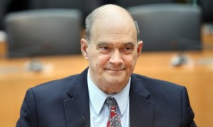 William Binney testifies before a German inquiry into surveillance. Photograph Getty Images