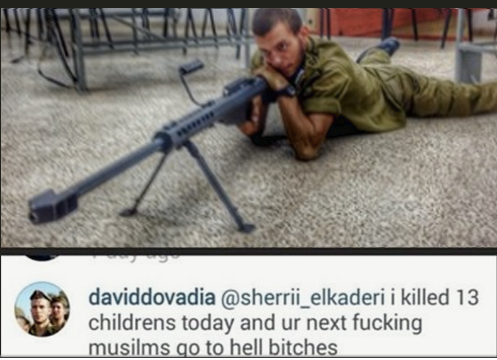 IDF Sniper Admits On Instagram To Murdering 13 Gaza Children